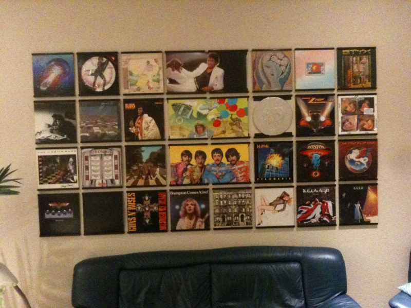 Blog archives records on walls for Vinyl records decorations for wall