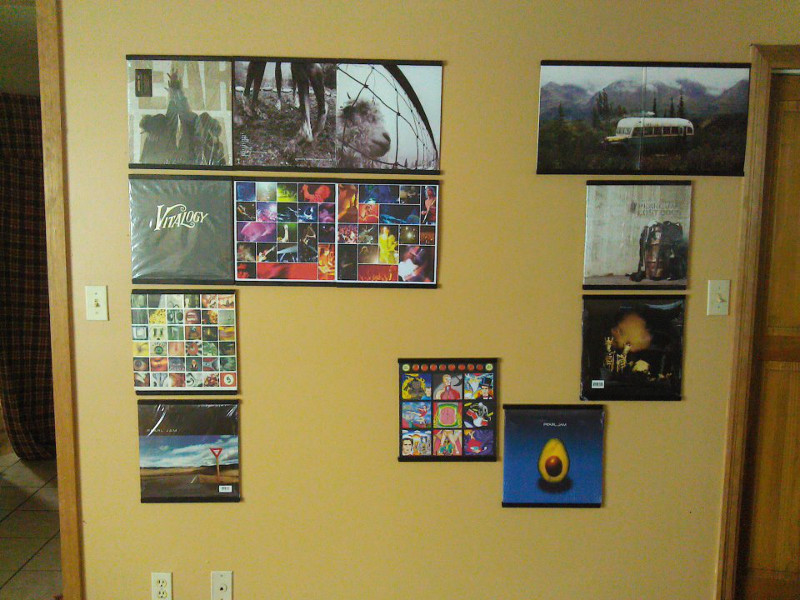 Some More Vinyl Record Displays - Records On Walls