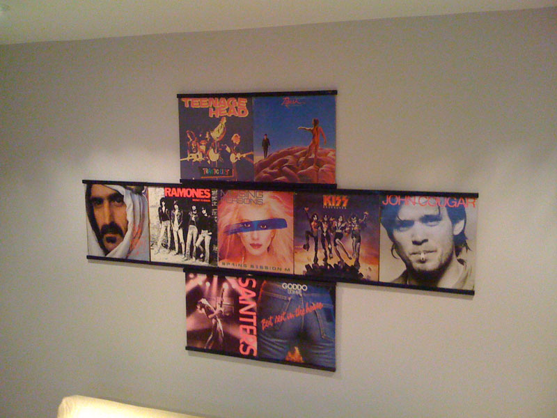 New Record Album Display Ideas Records On Walls